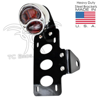TC Bros Choppers - Stop Model A Tail Light License Plate Bracket