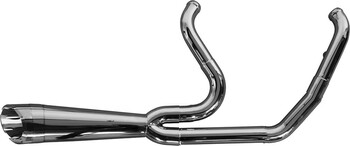 Two Brothers Racing - 2-into-1 Comp-S Turnout Exhaust - fits '09-'16 FLH,FLT