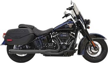 Bassani - Road Rage 2-Into-1 Exhaust System - fits '18 FLHC/FLDE/FLFB