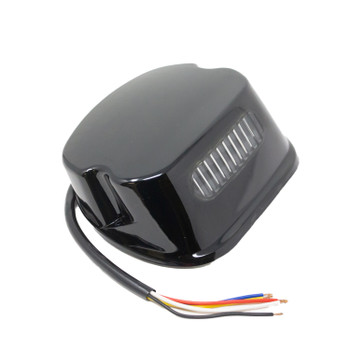 Motorcycle Supply Co. - Blackout LED Laydown Harley Taillight - fits Dyna, Sportster, Softail (see desc.)