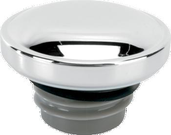 Drag Specialties - Chrome Screw-In Gas Cap - fits '99-'18 Big Twin, L96-'18 XL