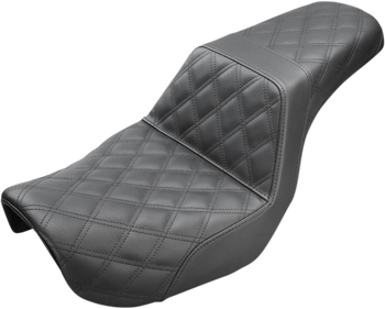 Saddlemen - Step Up Full Diamond Stitched Seat - fits '06-'17 FLD/FXD/FXDWG - Black