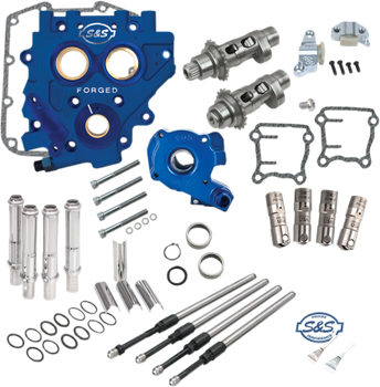 S&S - 585CEZ Easy Start Chain-Drive Camchest Kit - fits '07-'17 Twin Cam, '06 Dyna