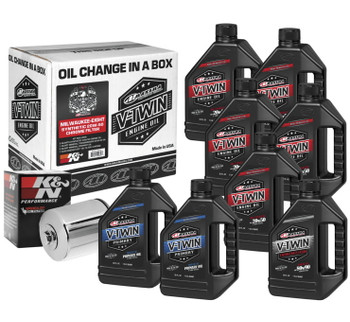 Maxima - Milwaukee-Eight Synthetic 20W-50 Oil Change Kit