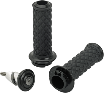 "Biltwell Inc 1"" Alumicore Grips D-Cable Black"