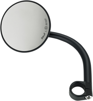 "Biltwell Inc Large Round 1"" Mirror with Mount Black"