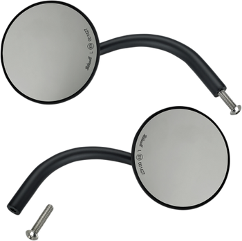 "Biltwell Large Round Mirror Set w/ 1"" Mount"