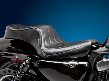 Le Pera Cherokee Seat - Fits '04-'06/'10-'19 Harley Sportster Models (see desc.)