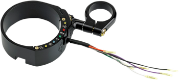oker Machine - Speedometer Relocation Bracket - Fits '95-'13 Sportster XL Models w/ 39mm Fork Tubes