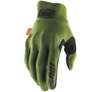 100% Cognito Gloves Army Green Black