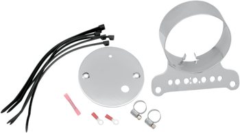 Drag Specialties - Single Chrome Gauge Brackets - Fits Dyna and XL Sportster Models