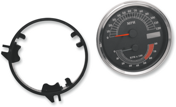 Drag Specialties - Electronic Speedometer/Tachometer - Fits 99-03 Touring, Softail, and Dyna Wide Glide Models