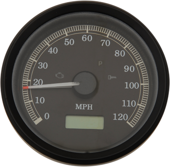 "Drag Specialties - 3-3/8"" Programmable Electronic Speedometer - Fits 99-03 Dyna, XL Sportster Models"