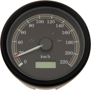 "Drag Specialties 3-3/8"" Programmable Electronic Speedometer Fits Dyna, XL Sportster Models 99-03 220 km/h"