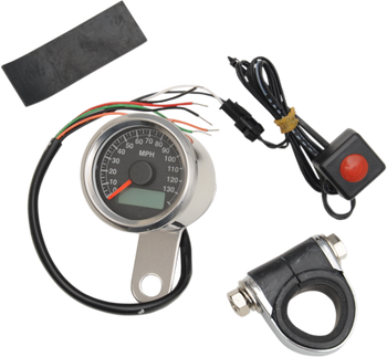 Drag Specialties - Programmable Mini Electronic Speedometer - 140 MPH
