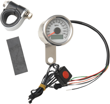 Drag Specialties Programmable Mini Electronic Speedometer 140 MPH