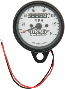 "Drag Specialties - 2.4"" Mini Mechanical MPH Speedometer - Fits 86-94 XL Models"
