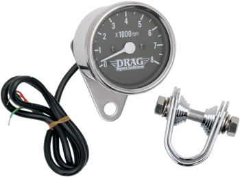 "Drag Specialties - 2.4"" Mini Electronic Tachometer - Fits 99-03 Twin Cam, 86-03 XL Models"