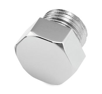 Colony - Oil Tank Drain Plug (Hexed, Chrome) - Fits 1911-2017 Big Twin, 1952-1976 Sportster/K