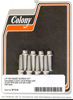 "Colony - Tappet Hardware Kit - Fits  L53-E76 Big Twin Models (1/4"" - 24)"