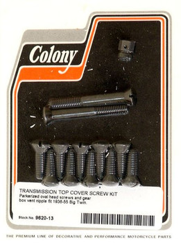Colony - Transmission Top Cover Screw Set (Parkerized) - Fits 36-55 Big Twin Models