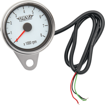 "Drag Specialties 2.4"" Mini Electronic 8000 RPM Tachometer with Orange Needle Fits 99-03 Twin Cam, 86-03 XL Models"