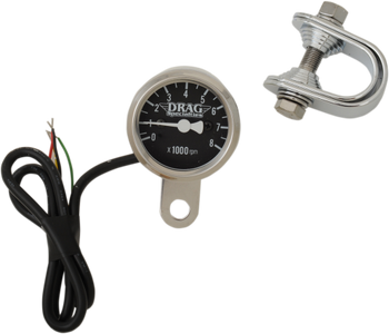 "Drag Specialties - 1-7/8"" Mini Electronic Tachometer - Fits 99-03 Twin Cam, 86-03 XL Models"