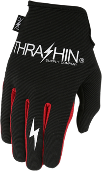 Thrashin Supply Co. Stealth Glove V.2 Black/Red Back