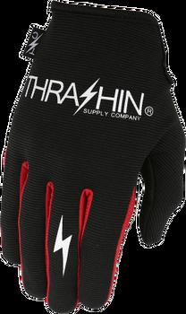 Thrashin Supply Co. Stealth Glove V.2 Black/Red Back