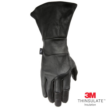 Thrashin Supply Co. Gauntlet Siege Insulated Glove Black Leather