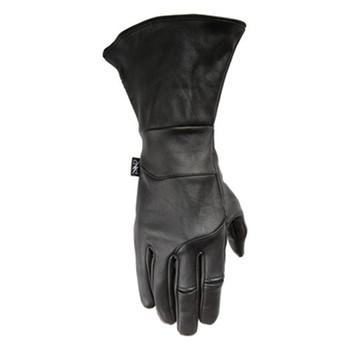 Thrashin Supply Co. Gauntlet Siege Insulated Glove Black Leather