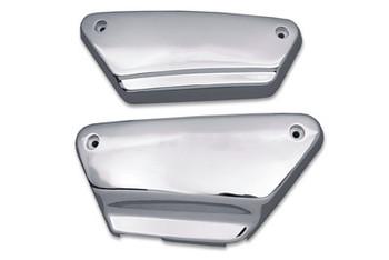 V-Twin - Chrome Steel Side Cover Set - Fits '84-'94 FXR/FXRS Models