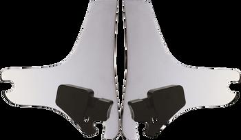 Cycle Visions - D-Tach Sissy Bar Side Plates - Fits Harley-Davidson FLHT/FLHR/FLTR Models 97-98
