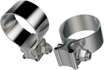 Khrome Werks - Stainless Steel Muffler Clamps