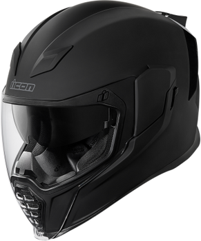 Icon - Airflite Full-Face Helmet - Rubatone Black
