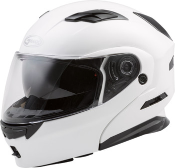 GMAX MD-01 STEALTH Modular Flip-Up Helmet w//Sun Visor Black//Yellow LG