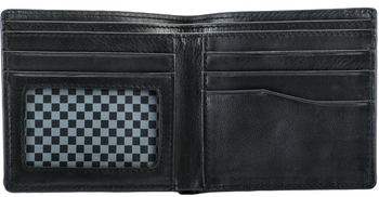Fly Racing Leather Wallet Open