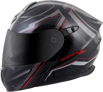 Scorpion EXO-GT920 Satellite Helmet Black/Red