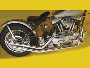 Paughco Slash-Cut Drag Pipes for Harley Sportster '57-'85