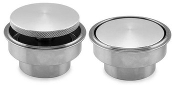 Biker's Choice - Chrome Pop-Up Style Gas Cap with Weld-In Style Bung