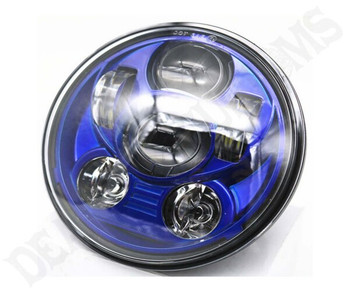 "Motorcycle Supply Co. Blue 5.75"" LED Headlight Bulb (DBC-3445)"