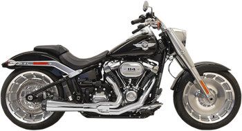 Bassani Road Rage 2 into 1 Exhaust for 2018-Up Softail Fat Boy, Breakout, and FXDR 114