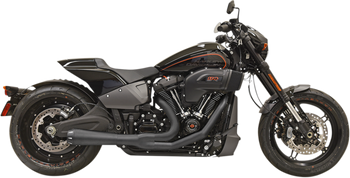 Bassani Road Rage 2 into 1 Exhaust for 2018-Up Softail Fat Boy, Breakout, and FXDR 114 Black