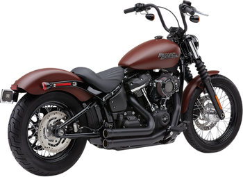 Cobra 909 2 into 2 Exhaust for 2018-Up Softail Heritage Classic and Sport Glide Black