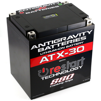 Antigravity Lithium-Ion ATX-30 Restart Battery for Harley Touring, Softail
