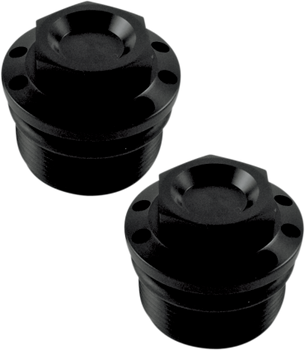 Joker Machine Fork Tube Caps for Harley FXR, Dyna, Sportster (see desc.)