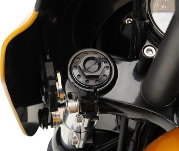 Joker Machine Fork Tube Caps for Harley FXR, Dyna, Sportster