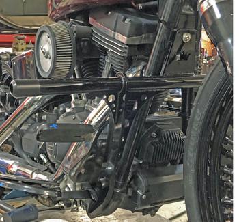 Bung King - Highway Peg Crash Bar fits Harley Dyna w/ Forward Controls