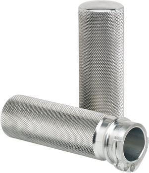 "Joker Machine Knurled Dual Cable Harley Grips - fits 1"" Bars"