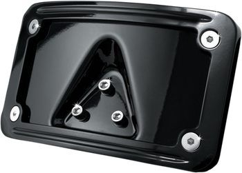 Kuryakyn Curved Laydown License Plate Mount with Frame